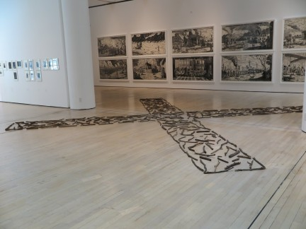 Richard Long - Cross of sticks, 1983