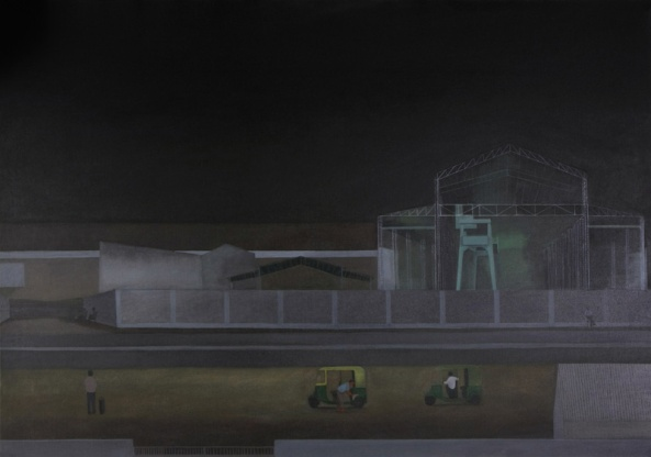 Factory Shed, 114,5×163 cm, acryl op doek, 2008.