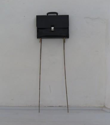 De symbolisch koffer met geheime documenten