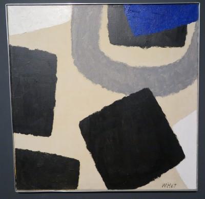 Willem Hussem, zonder titel, olieverf op doek, 80 x 80 cm, 1967.