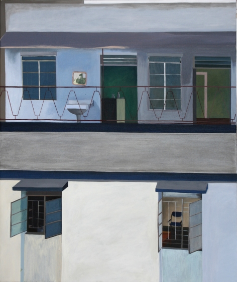 Neighbourhood2, 75,5x90,5 cm, acryl op doek, 2007