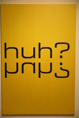 Tim Ayres. Huh?, acryl op doek, 2012