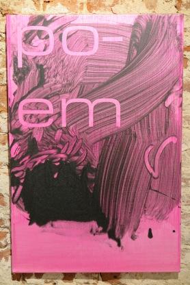 Tim Ayres. poem [ JP], acryl op doek, 2015