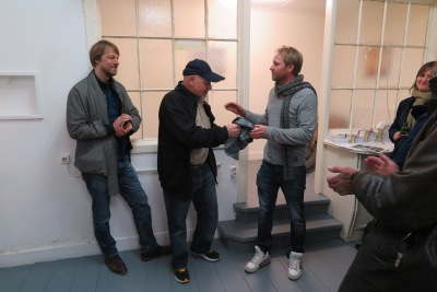 Erik de Bree dankt Frans Oomen