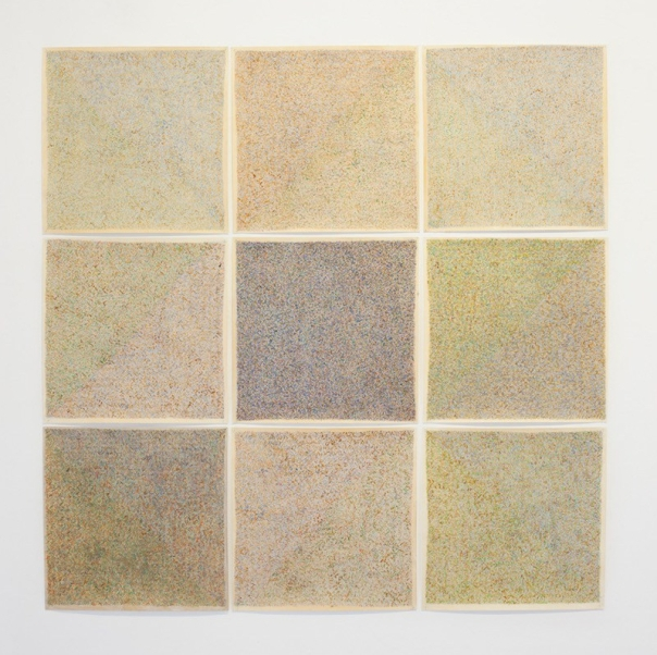 Fatima barznge, transformation of square pyramids #01, 2017