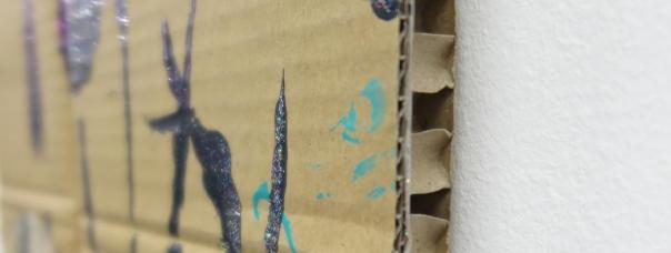 Stefan kasper - Galerie Bart - detail van tekening op karton